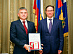 Head of Rostekhnadzor Alexey Aleshin awarded Head of Rosseti Centre Igor Makovskiy with the jubilee medal of the department